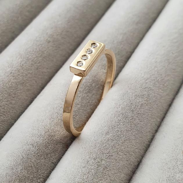 Diamond Bar Ring in 14 carat gold - Edge Only fine jewelry Ireland