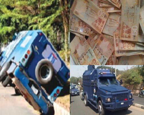 Just In: Robbers shoot bullion van driver, pregnant woman and police officer at Korle-Bu - Report Ghana