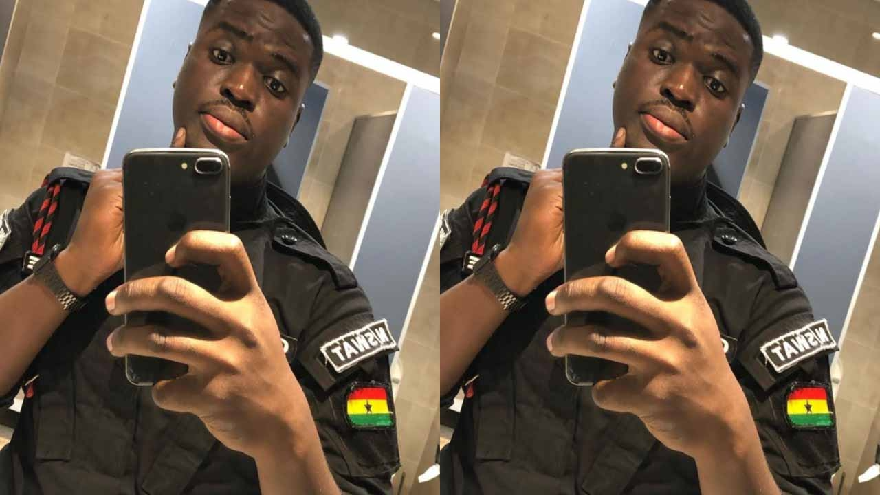 Photos & identity of the handsome police officer who was shot dead in a bullion van in James Town