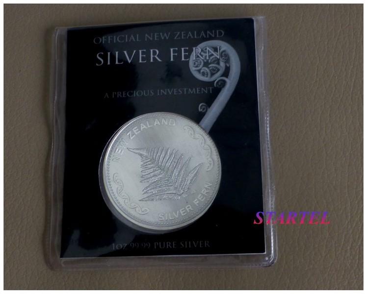 Silver Fern 1 Oz silver (9999) bullion in Mint Card