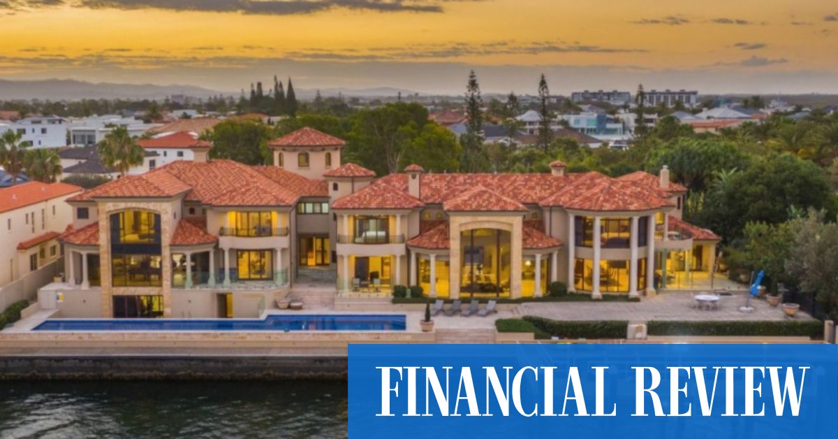 Sovereign Islands waterfront mansion on the Gold Coast sells for $14.18m, setting price record