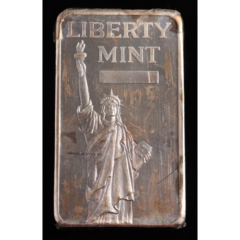 10 Troy Oz .999 Fine Silver Liberty Mint Bullion Bar (See Description) | Pristine Auction