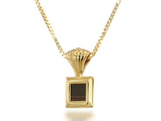 Buy Gold Plated Whole Bible Nano Jewelry Layered Square Pendant | Israel-Catalog.com