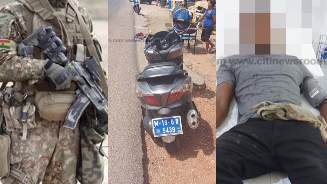 JUST IN: Soldier Shoots Motorcyclist For Riding Near A Bullion Van - My News Ghana