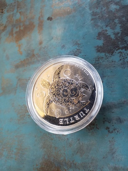 Silver Bullion 2015 1Oz Turtle Niue .999 Elizabeth