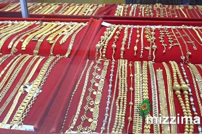 Gold price rises in Myanmar