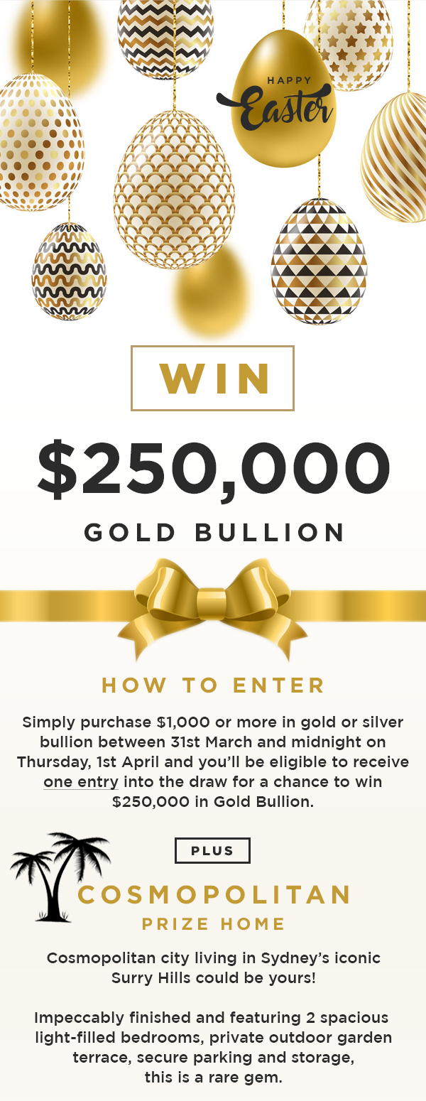 Your Chance To WIN $250,000 Gold Bullion - As Good As Gold Australia